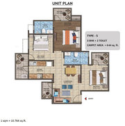 3bhk Affordable mid rise flat in Ghaziabad